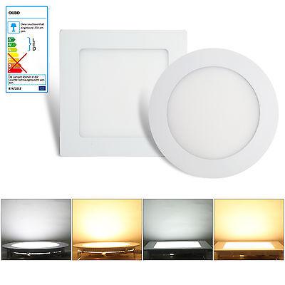 LED Panel Rund Einbauleuchte Ultraslim Deckenleuchte Einbau Decken Lampe 230V