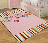 Fun Pink Kids Rug 125 Thick Heavy Children Floor Mat Playmat Free Delivery