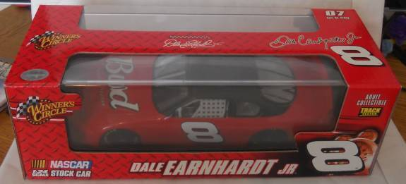 2007 DALE EARNHARDT JR BUDWEISER TEST CAR 1 24 W DISPLAY CASE