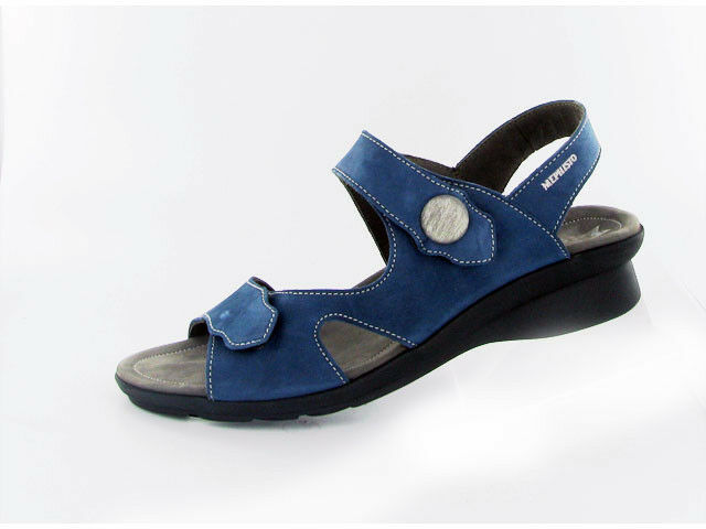 Ladies Casual Touch Fastening Sandals Mephisto Prudy bluee EU Size 40