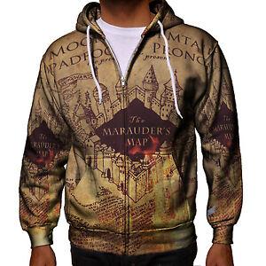 pour hommes Marauder's à capuche zippé Potter Harry MapSweat 0w8nXkOP