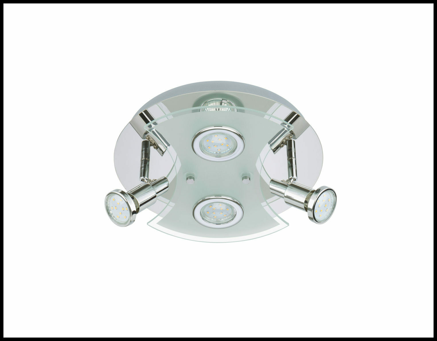 ♥ 4Fl. LED Deckenleuchte Deckenlampe 12W 1000lm Chrom 3528-048 A+