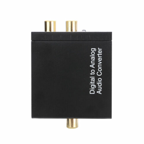 Optischer Koaxialer Toslink Digital Analog 3.5mm Audio Wandler Cinch Adapter
