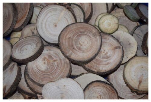 bricolaje madera 25 unidades-ca 4-5 cm astscheiben árbol discos discos de madera
