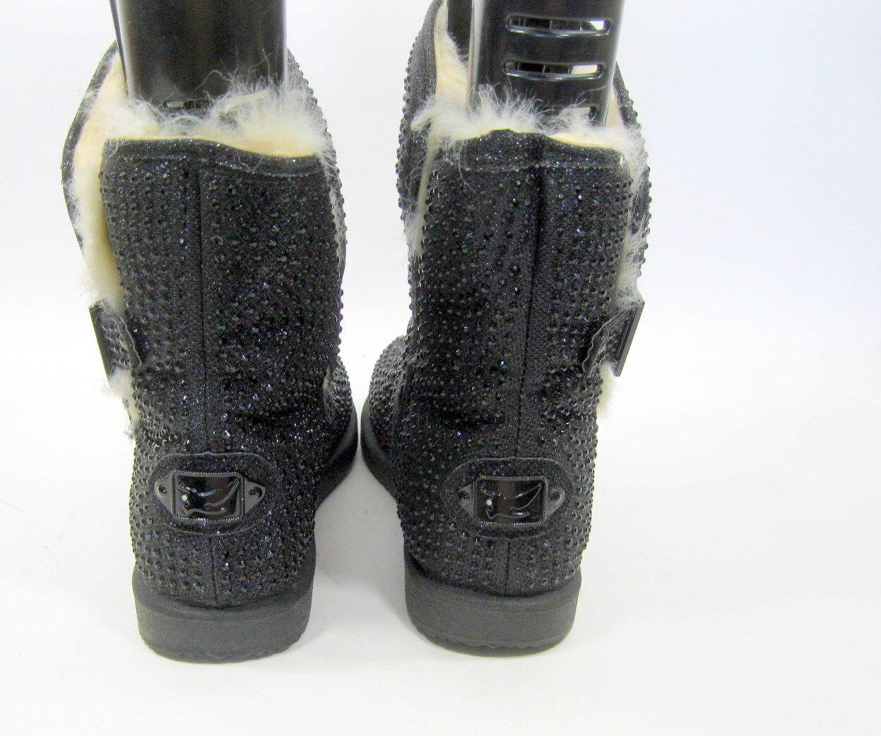 new ladies Black Urban Rhinestone Round Toe  Winter sexy Ankle Boot Size 8