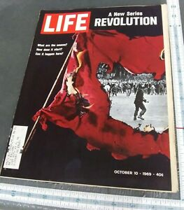 LIFE Magazine OCTOBER 10 1969 REVOLUTION A NEW SERIES THE NFL 50th