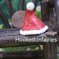 Santa Hat Dollhouse Miniature Garden Fairy Gnome Hobbiit