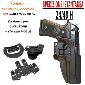 Fondina-in-polimero-per-Beretta-92-98-SGANCIO-RAPIDO-da-fianco-cinturone-MOLLE