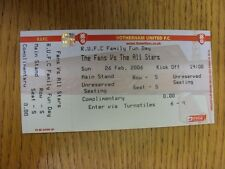 26/02/2006 Ticket: At Rotherham United, The Fans v The All-Stars [Family Fun Day
