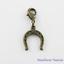 Vintage-Look-Antique-Bronze-Horseshoe-Charm-fit-Clip-on-Charm-Bracelet