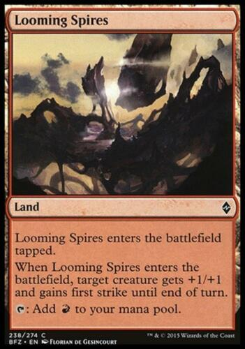 4x PICCHI INCOMBENTI LOOMING SPIRES Magic BFZ Battle For Zendikar