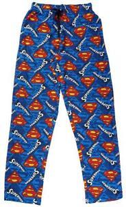 Homme-pantalon-de-detente-Superman-Pyjama-S-logo-Pyjama-Bottoms-officiel-COTON-S-a-XL