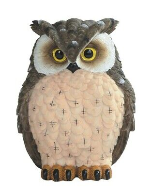 """HORNED BROWN OWL    Small Owl    statue figure   H5.75/"""""""