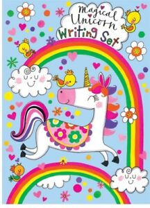 Image Is Loading Rachel Ellen Magical Unicorn Writing Set Girls Stationary
