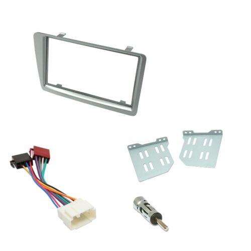 Honda Civic Car CD Stereo Radio Double DIN Silver Facia Fascia Fitting Kit Panel