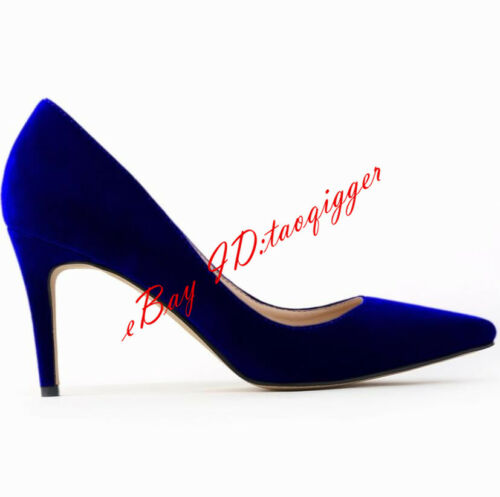 Classic Womens Party High Heel Pointy Toe Faux Suede Pumps Dating OL Shoes New