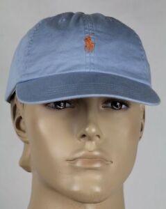 Chapeau Ralph Poney Casquette Détails Sur Bleu Polo Lauren Orange Baseball bf7y6g