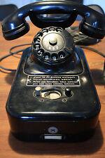 Seltenes Münztelefon, Münzfernsprecher 55b der Post 50er Jahre