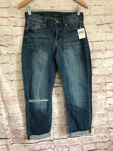 Crop 26 Destroyed Lucky Brand A1 Mollie Size Rise donna Mid Blue 2 Jeans qPXnPAwp