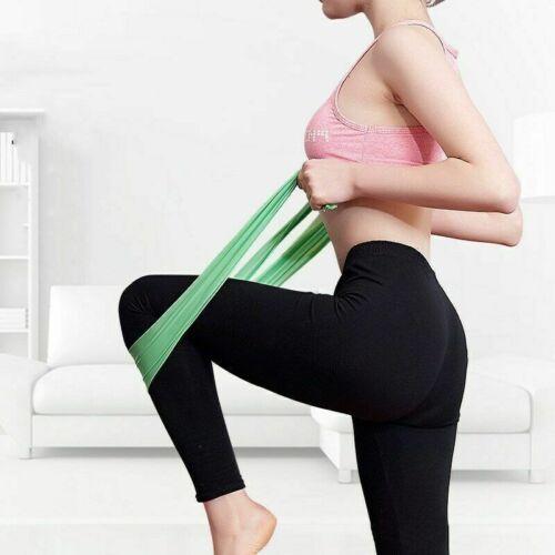 Resistance Bands Elastic Yoga Exercise Sports Gym Pilates Stretch Straps Bands