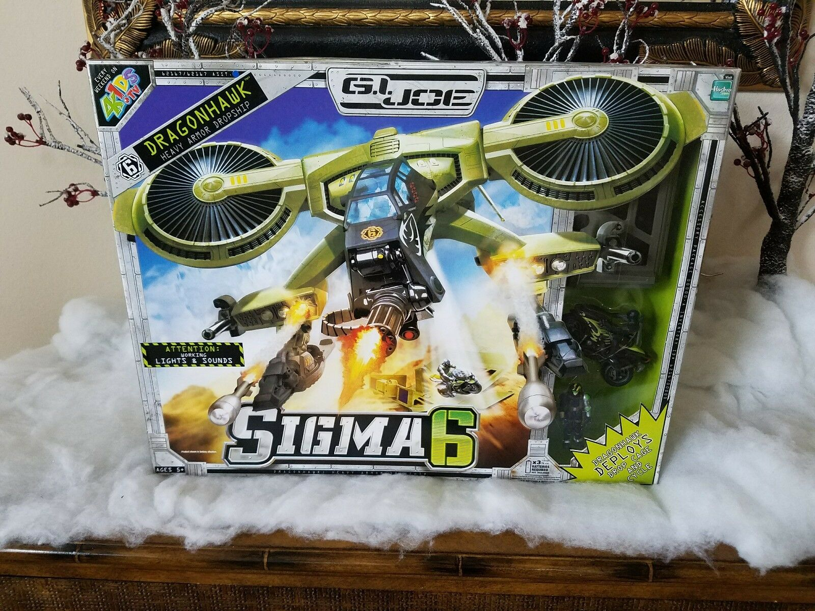 G.I. Joe Sigma 6 Dragonhawk Heavy Armor Dropship
