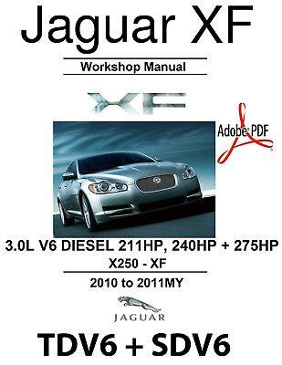 2010-2011 JAGUAR XF TDV6 STDV6 3.0D 3.0D S DIESEL WORKSHOP ...