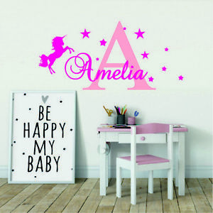 Details About Custom Name Personalised S Wall Decor Kids Baby Art Bedroom Sticker