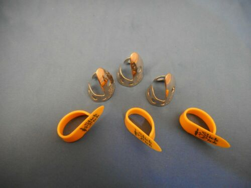 6 Pc Fingerpick Set--Dunlop Finger /& Fred Kelly Thumb-FAST USA SHIPPING