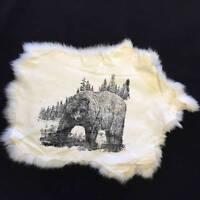 Rabbit Pelt Printed Skin Western Theme Bear Fur Hide Free Shipping