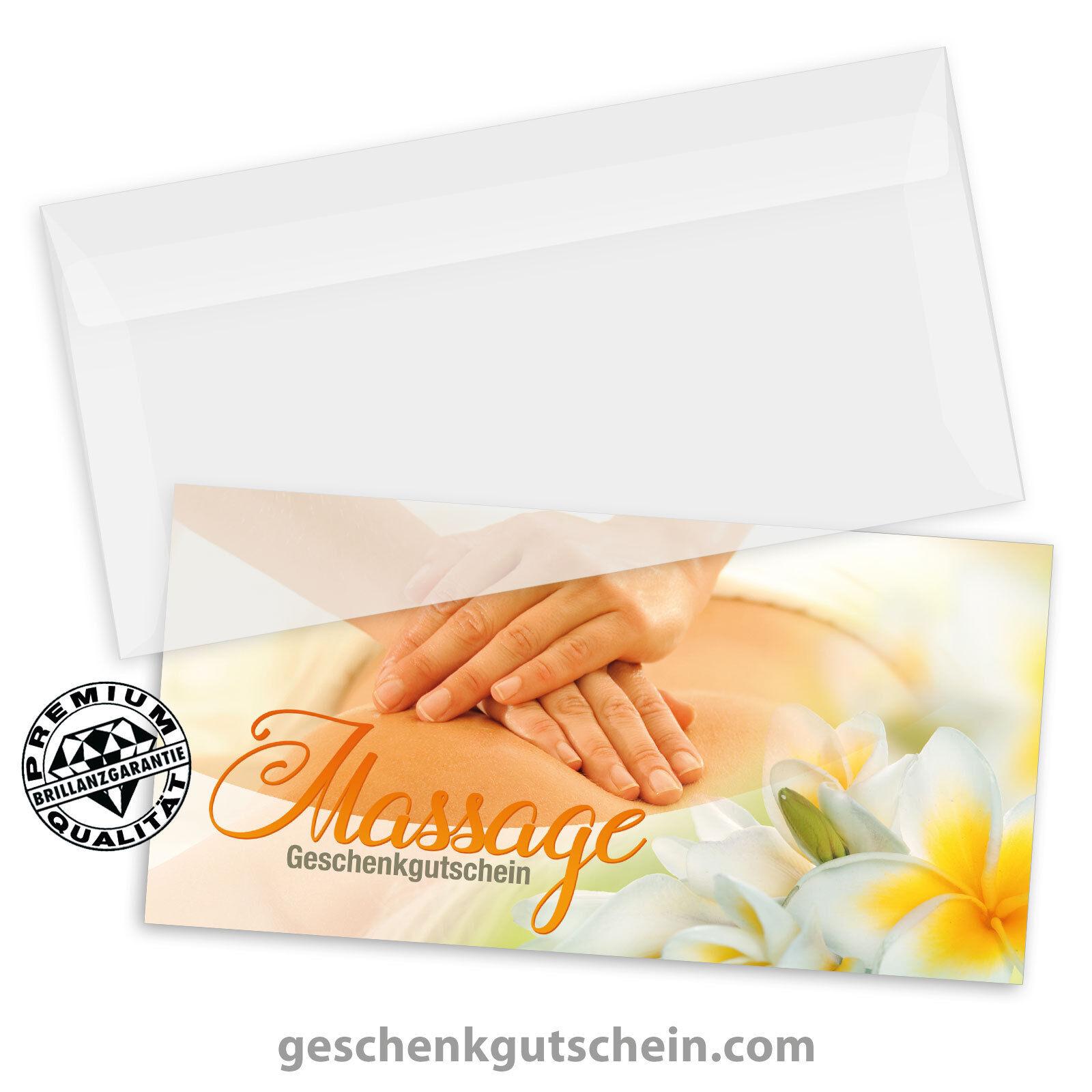 Gutscheinkarten  DINlang  mit KuGrüns für Massageinstitute MA9243