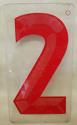 VINTAGE 1960-70s Plastic Gas Station Price Sign Advertising Plexiglass Number 4