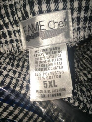 Chef Pants Fame Fabrics # 81687 Houndstooth checked print NEW size 4X
