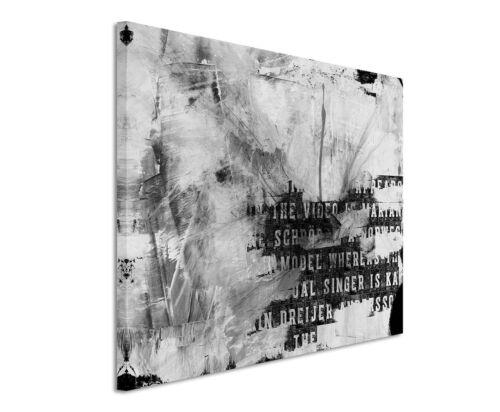 Leinwandbild abstrakt schwarz grau weiß Paul Sinus Abstrakt/_742/_120x80cm