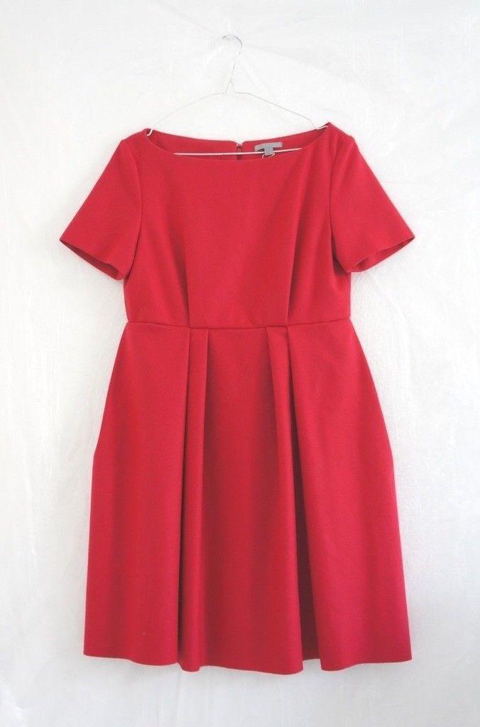HOF115  COS Kleid falten wolle kaschmir   Folded pleat dress wool 34 UK 8