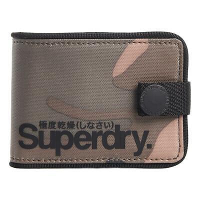 Superdry NEW Men/'s Logo Tarp Wallet Camo BNWT