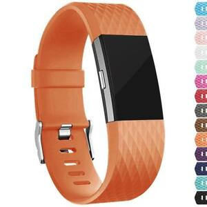 For-Fitbit-Charge-2-Replacement-Wristband-Wrist-Strap-Smart-Watch-Band-Orange