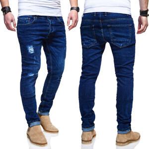 05fa6c47a73ea1 Das Bild wird geladen BEHYPE-Jeans-Destroyed-Roehrenjeans-Slim-Fit-Herren- Chino-
