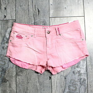 Pants Superdry GrW26 Shorts A066 Rosa Jeans Kurze Hose Damen Hot pGSUzqMV