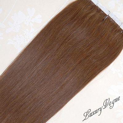 20 Stücke 100% Remy Hair Echthaar Haarverlängerung Tape-in Extensions #6