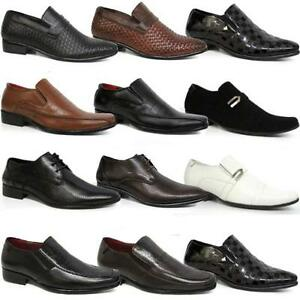 Image Is Loading Mens Smart Shoes Italian Formal Wedding Casual Party