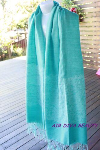 Women Mother/'s Day Gift New Gorgeous Fashion Blue Pashmina Scarf  Wrap 184*71