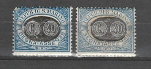 s37616 SAN MARINO MNH** 1931 Segnatasse c.40 su c. 10 1v Sassone 42 DUE COLORI