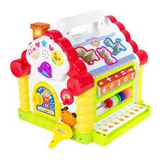 Kids Activity Toy Learning Cottage, Music, Lights, Games, Animal Shape Cube