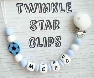 Full-Silicone-Football-mannequin-chaine-avec-Silicone-Clip-Manchester-City-MCFC-Baby