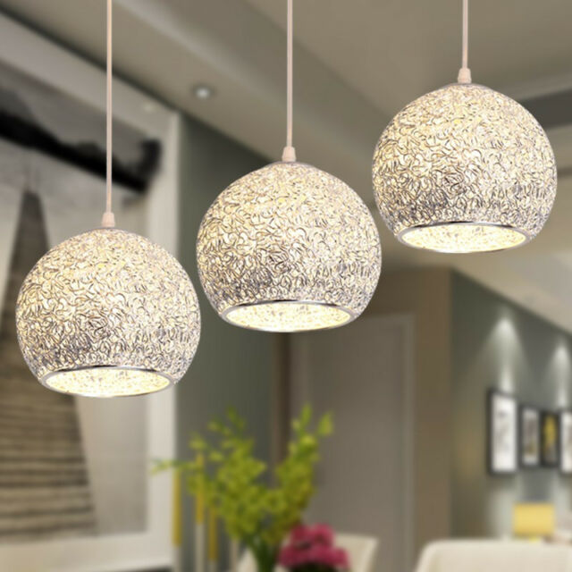 Modern Ceiling Lights Bar Lamp Silver Chandelier Lighting Kitchen ...