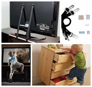 Image Is Loading 2X Anti Tip TV Strap Child Kids Proof