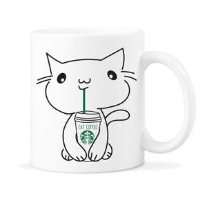 Image Is Loading Starbucks Cat Mug Starbuck Cats Coffee Mugs