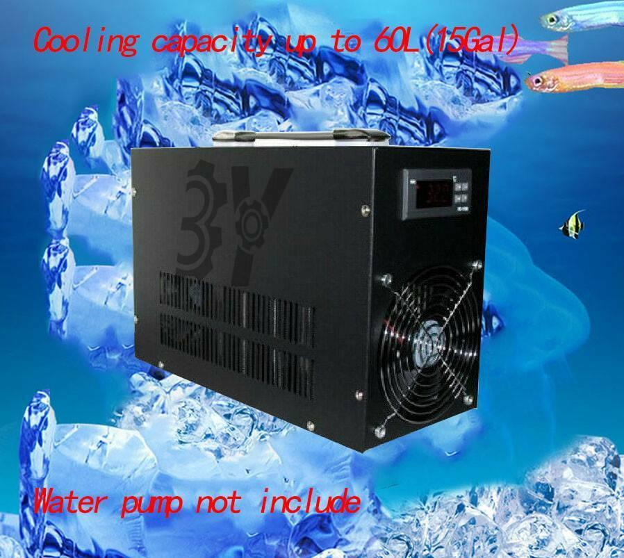 1PCS  Aquarium fish tank Electronic water  ller water cooler Cooling up to 60L