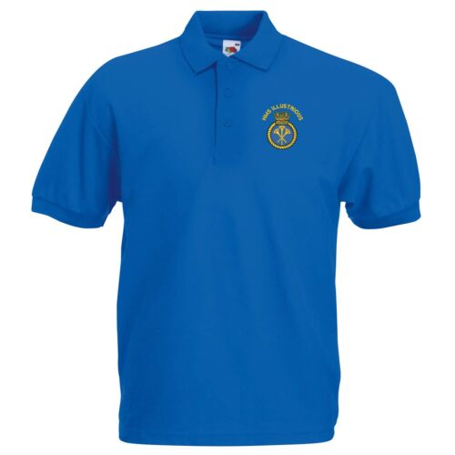 HMS Illustrious Polo Shirt with Embroidered Logo
