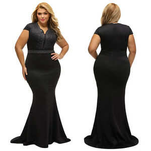 Rhinestone-Bodice-Scallop-Neck-Plus-Sz-Long-Maxi-Formal-Gown-Evening-Party-Dress